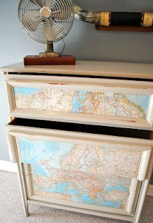 map dresser. could cover a file cabinet in classroom, or any other classroom furniture.
