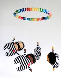 Love Bandit Baby Mobile ---  Made to Order -- Customize colors. $125.00, via Etsy.