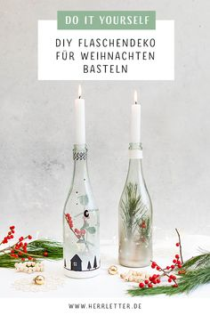 Winter Diy, Diy Weihnachten, Green Christmas, Favorite Color, Upcycle, Christmas Decorations, Crafty, Bottle, Fitness