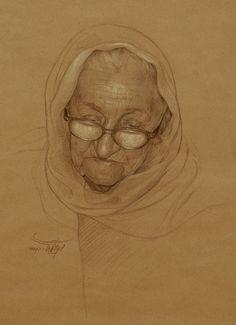 Portrait of an elder woman (Gallery--Mehrdad--Jamshidi)