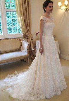 Kiváló minőségű  masnis  francia ujjas Csipke menyasszonyi ruha esküvői ruha XXS-XXL KMBK74411