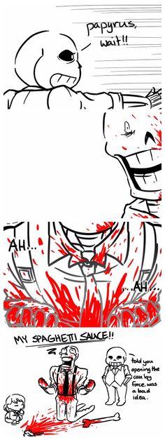 Sans and Papyrus - comic - MobsterUT AU