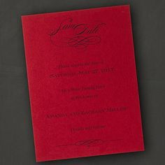 Tailored Vertical - Save the Date Card - Claret. Available at Persnickety Invitation Studio.