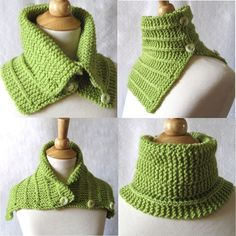 Items similar to Knit Cowl Scarf Pattern - Convertible Capelet Plus 2 Tutorials on Etsy Knitted Capelet, Knit Cowl, Irish Crochet, Knit Crochet, Crochet Hats, Crochet Granny, Hand Crochet, Crochet Scarves, Crochet Clothes