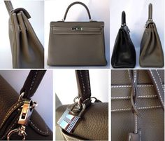 MaiTai - Hermes 35 Kelly in etoupe clemence and PHW