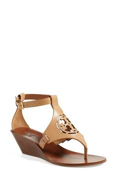 Tory Burch 'Zoey' Wedge Sandal (Women) available at #Nordstrom