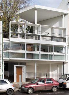 Fondation Le Corbusier - Réalisations - Maison du Docteur Curutchet 1949 - 1953 / La Plata, Argentina
