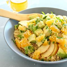 Zingy Avocado Citrus Couscous Salad