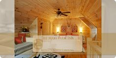 Mam's Refuge is a Large Family Cabin • A new and luxurious all wood two story log cabin home built in 2011, with 1000 square feet, plus an outdoor deck overlooking the woods. Mam's Refuge is a small home the size of a Swiss chalet. • Sleeps 1-5