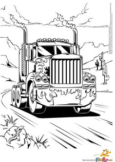 semi trucks coloring pages | Related searches for 'Peterbilt Semi Truck Coloring Pages':