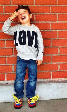 Acne sweatshirt, Diesel jeans, Jeremy Scott sneakers    Photo: Luisa Fernanda Espinosa