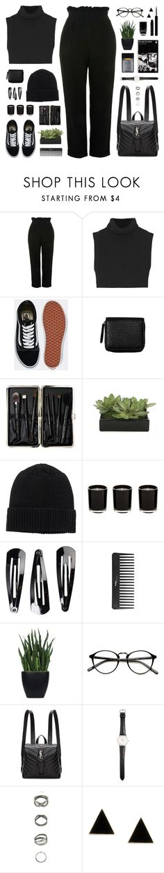 """220118"" by rosemarykate ❤ liked on Polyvore featuring Topshop, Victoria Beckham, Vans, Monki, Bobbi Brown Cosmetics, Lux-Art Silks, NLY Accessories, Sephora Collection, Nails Inc. and Yves Saint Laurent"
