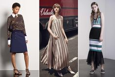 Tendência: Atualize as listras (Foto: Reprodução) Michael Kors, Ideias Fashion, Style, Female Trends, Stripes, Block Prints, Templates, Trends, Swag