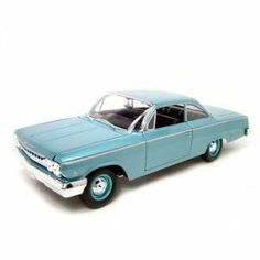 1962 Chevrolet Bel Air Diecast Model Blue 1:18 Die Cast Car by Maisto. $36.26. Brand new diecast model, perfectly detailed and has perfect box. Makes great gift for your loved one or collector enthusiast.. This is a very detailed replica of 1/18 scale 1962 Chevrolet Bel Air diecast model car 1:18 scale die cast. Opening Doors, Opening Hood, Opening trunk, Detailed Interior, Rubber Tires, Steerable Wheels, Perfectly modeled engine, Accurate Gauges and dash inside. 1962 Chevrole...
