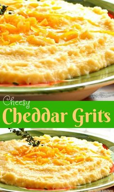 Cheesy Cheddar Grits - It will likely come as no surprise, when I say that grits are a Southern staple. They are to a Southerner what polenta is to an Italian. Breakfast Dishes, Breakfast Recipes, Breakfast Ideas, Breakfast Time, Cheesy Grits, Southern Recipes, Southern Food, Simply Southern, Southern Style