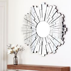 Abbyson Living Empire Round Wall Mirror | Overstock™ Shopping - Great Deals on Abbyson Living Mirrors