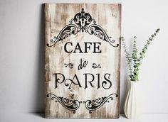 Paris-theme-cafe-de-paris-wooden-sign