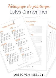 ... listes à imprimer nettoyage de printemps 3 listes à imprimer