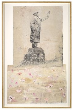 Artwork by Anselm Kiefer, LET A THOUSAND FLOWERS BLOOM, Made of oil, sand, ash and charcoal on photographic paper