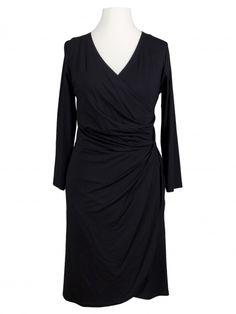 Damen Jersey Kleid Langarm, schwarz von RESTART bei www.meinkleidchen.de