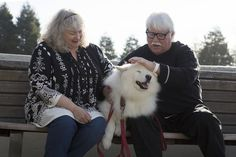 Jane Parks-McKay and her husband, Tim McKay with their dog, Luka, at Jade Street Park in Capitola, Calif., Wednesday, Jan. 20, 2016. Nine years ago,