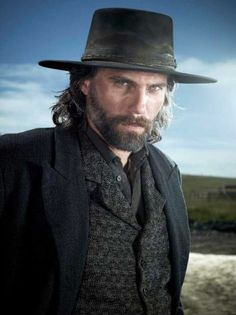 Anson Mount - starring in Hell on Wheels. The problem with adding gorgeous guys to this Board is picking my favorites photos. I'm starting with this one for Anson Mount because before Hell on Wheels, I'd not heard of him Black Cowboy Hat, Cowboy Vest, Anson Mount, Hell On Wheels, Into The West, Western Movies, Le Far West, Raining Men, Beautiful Men