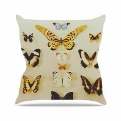 KESS InHouse CV1038AOP03 18 x 18-Inch 'Chelsea Victoria The Butterfly Collection Photography Blue' Outdoor Throw Cushion - Multi-Colour -- Check out this great product. (This is an affiliate link) #GardenFurnitureandAccessories