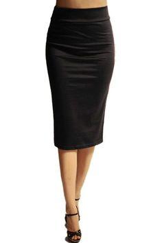 Below the Knee Pencil Solid Color Skirt (Dark Gray) – Niobe Clothing