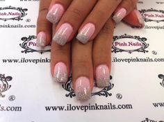 Pink and Diamond Rock Star Fade Nails