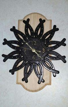 DIY horseshoe clock