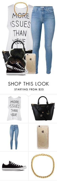 """""""."""" by trillest-queen ❤ liked on Polyvore featuring 7 For All Mankind, Rifle Paper Co and Converse"""