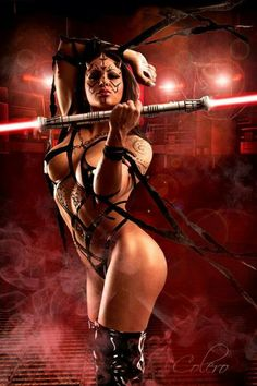 Sith ~ Trust me, as a fighter with sword, this outfit would NOT work for fighting, unless you have some sort of antigravity suit around you!  JUST SAYING!