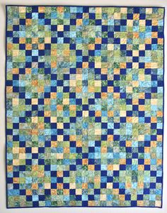 Irish Chain Strip Quilt cherigoodquiltdesign