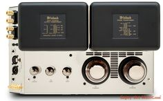 McIntosh MC75 Monoblock Tube Amplifier And C22 Tube Preamplifier