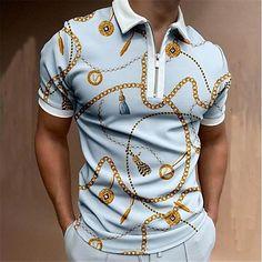 Short Sleeve Polo Shirts, Collar Shirts, Style Casual, Ripped Denim, Golf Shirts, Men Shirts, Printed Tank Tops, Sportswear, Street Wear