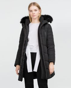 Image 2 of LONG ANORAK WITH DETACHABLE FAUX FUR from Zara