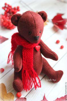 Купить Мишка осенний - мишка, тедди, игрушка, игрушка ручной работы, медведь, подарок