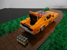 General Lee Dukes of Hazzard: A LEGO® creation by Clayton Marchetti : MOCpages.com