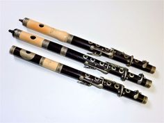 3 antique piccolo / flute London English make