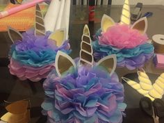 Cute unicorn centerpieces