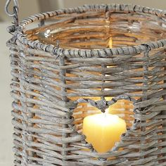 Wicker heart lantern from notonthehighstreet.com