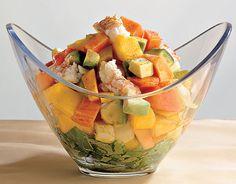 Recipe for Shrimp, Papaya And Mango Salad : La Cucina Italiana