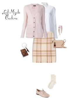 """""""Last-Minute Halloween Costume: Nancy Drew"""" by kays-fashion-escape ❤ liked on Polyvore featuring Misha Nonoo, MARC CAIN, ATM by Anthony Thomas Melillo, Monsoon, Clarks, J.Crew, Salvatore Ferragamo, Fountain, contest and LastMinute"""