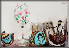 Hand painted glassware collection