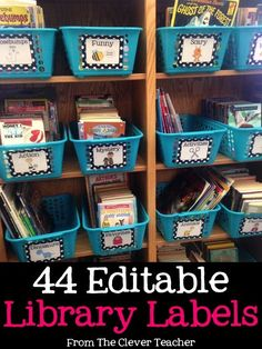 Library Labels - Editable Sweet & simple polka-dot labels to organize classroom library! Included are 44 labels with pictures, & an editable file. These cards could also be used to decorate a Genre Bulletin Board. Polka Dot Classroom, 4th Grade Classroom, Classroom Setup, Kindergarten Classroom, School Classroom, Classroom Hacks, Preschool Literacy, Future Classroom, Library Organization