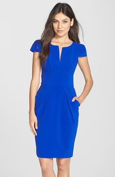 Clove+Split+Neck+Sheath+Dress+(Nordstrom+Exclusive)+available+at+#Nordstrom