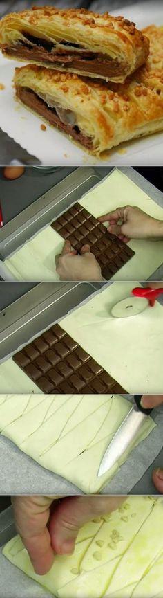 Она положила шоколад в духовку. Увидев результат, вы тоже так захотите попробовать! | Четыре вкуса