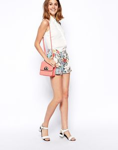 ASOS Floral Printed Culotte Shorts