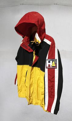 RARE Vintage 90s Tommy Hilfiger  Sailing Jacket Color Block Red/Blue/Yellow/White  Size M Fits S CHECK MEASUREMENTS by VapeoVintage on Etsy