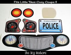 New Replacement Decals Stickers fits Little Tikes Cozy Coupe II Black Police Police Test, Police Jobs, Police Academy, Kids Play Equipment, Police Officer Requirements, Law Enforcement Jobs, Little Tikes, Preschool Toys, Toy Boxes